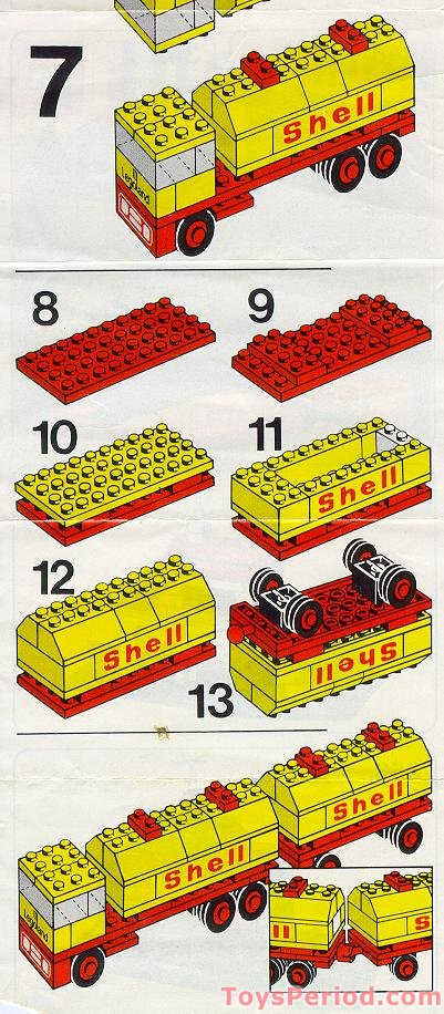 Lego 688 Shell Tank Truck Set Parts Inventory And