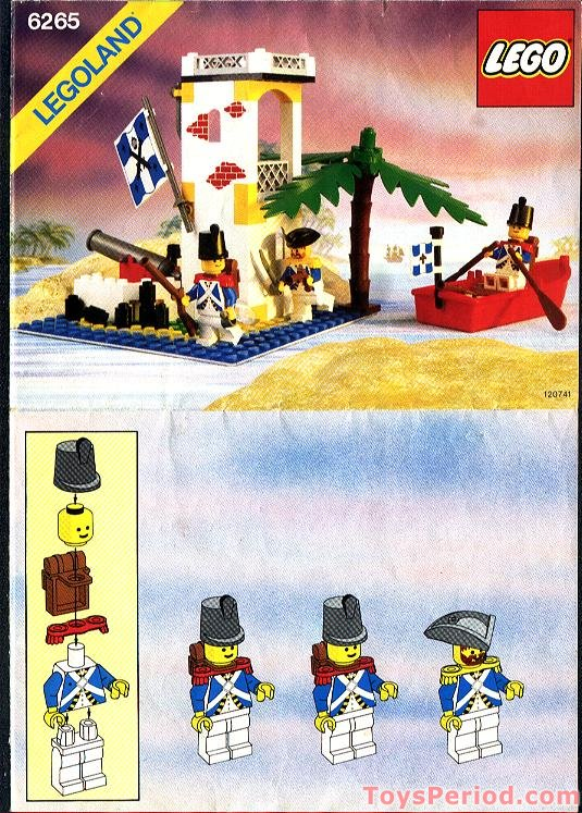 Lego 6265 Sabre Island Set Parts Inventory And Instructions Lego