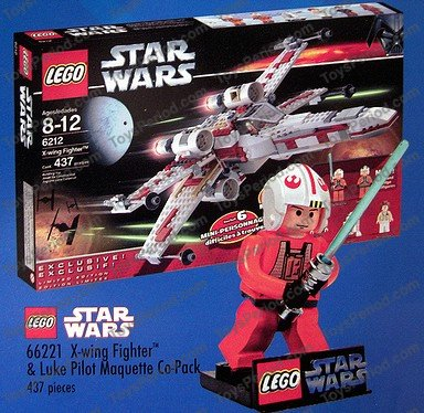 LEGO 66221 X-Wing Fighter and Luke Pilot Maquette Co-Pack (TRU Exclusive) Set Parts Inventory ...