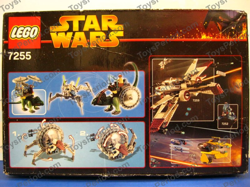LEGO 7255 General Grievous Chase Star Wars Wheelbike Set New Image
