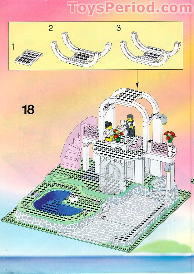 Lego 6416 Poolside Paradise Set Parts Inventory And