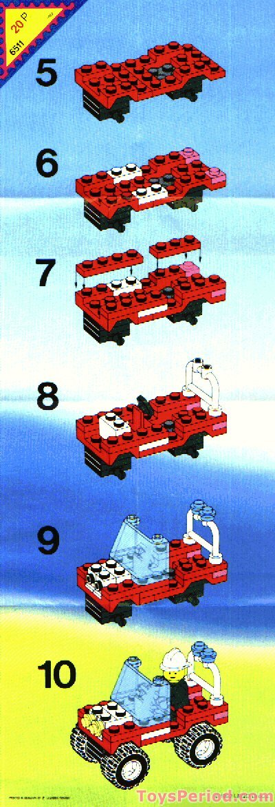 lego 6511 rescue runabout set parts inventory and instructions lego reference guide. Black Bedroom Furniture Sets. Home Design Ideas