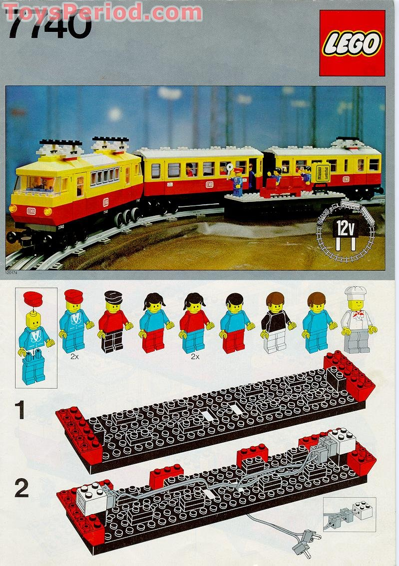 Lego 7740 12v Electric Inter City Passenger Train Set Set