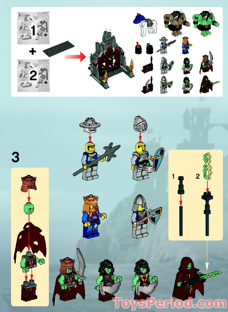 Lego fantasy era crown knight scale mail with crown breastplate - Trolls Mountain Fortress Free Instruction Page 3