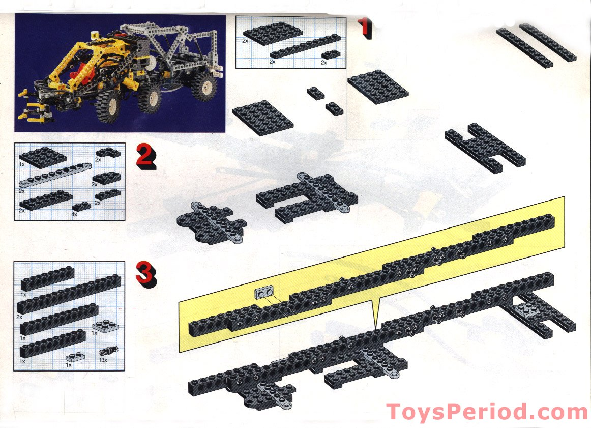 Lego 8868 Air Tech Claw Rig Set Parts Inventory And Instructions