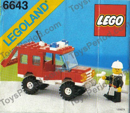 Lego 6643 Fire Truck Set Parts Inventory And Instructions Lego