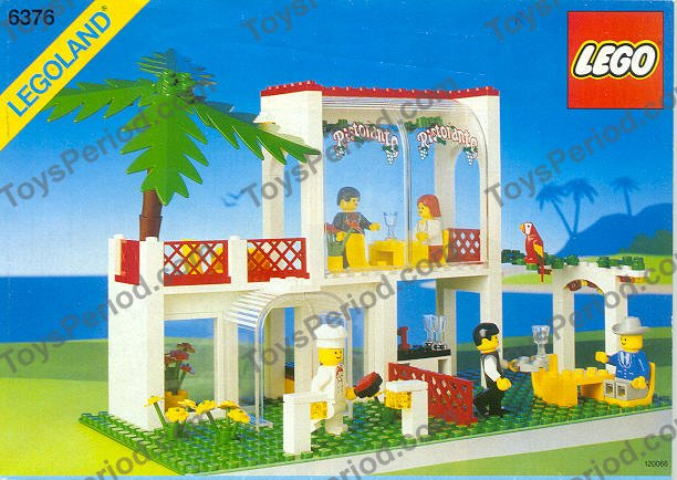 Lego 6376 Breezeway Cafe Caf Set Parts Inventory And Instructions