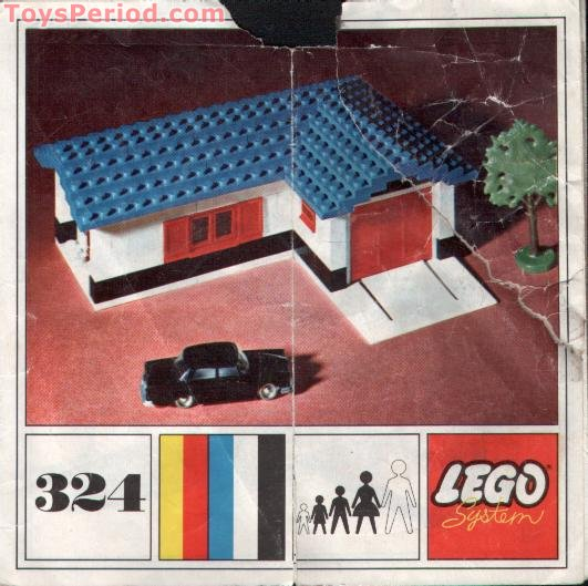 Lego 324 2 House With Garage Set Parts Inventory And