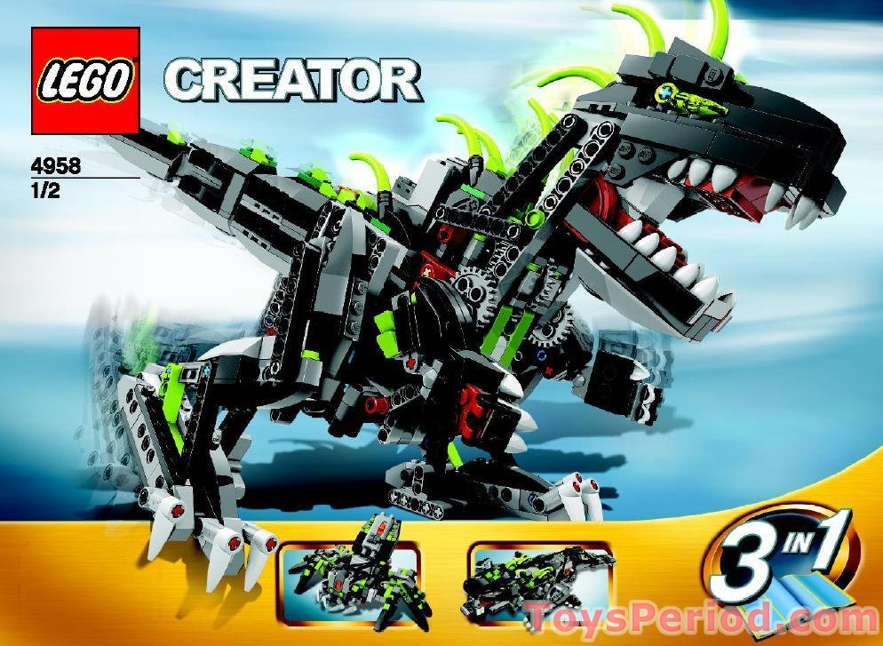 Lego 4958 monster dino set parts inventory and - Lego dinosaures ...