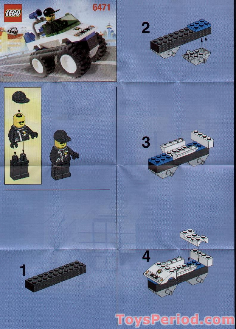 how to build a lego police car instructions