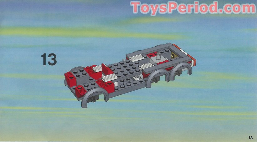 lego city fire truck 7239 instructions
