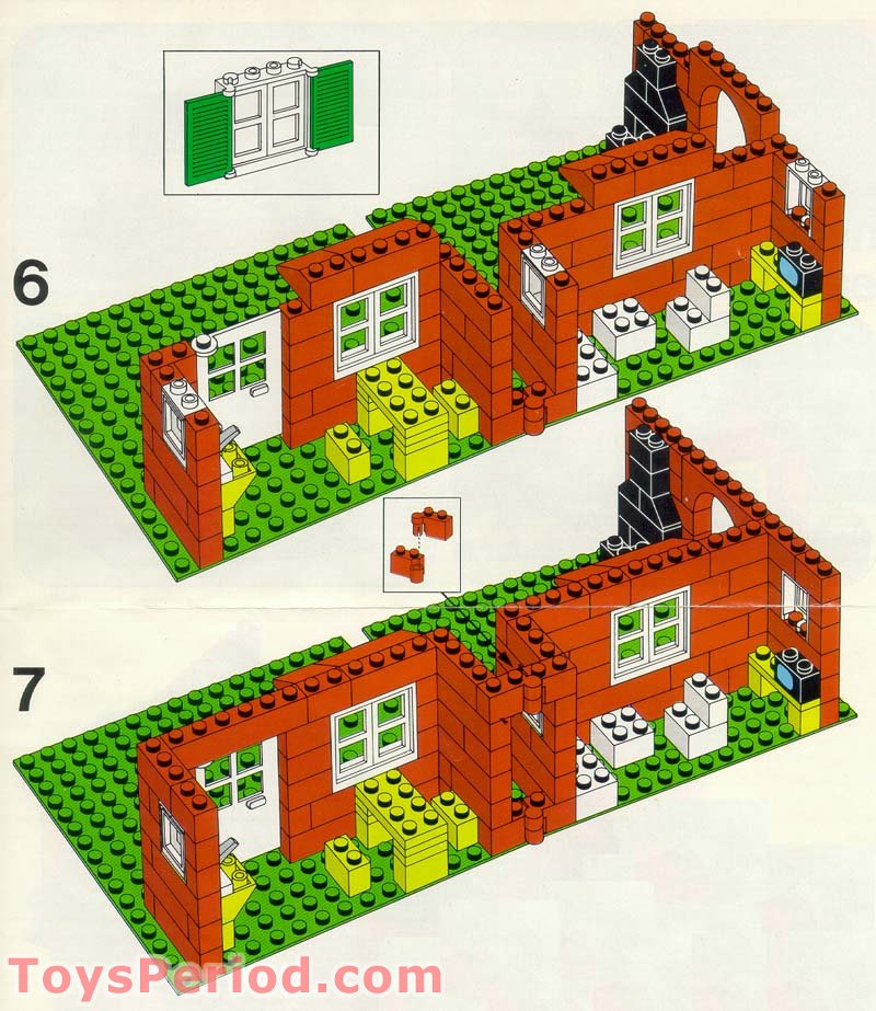 Lego 560 1 Town House With Garden Set Parts Inventory And