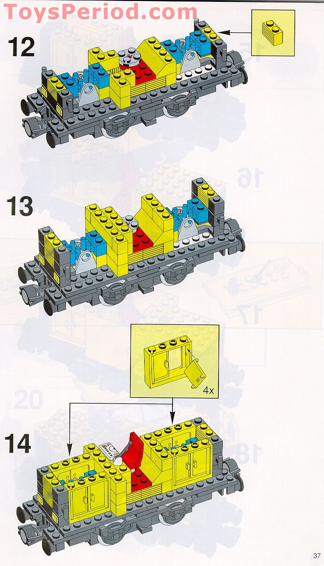 Lego 4564 Freight Rail Runner Set Parts Inventory And Instructions