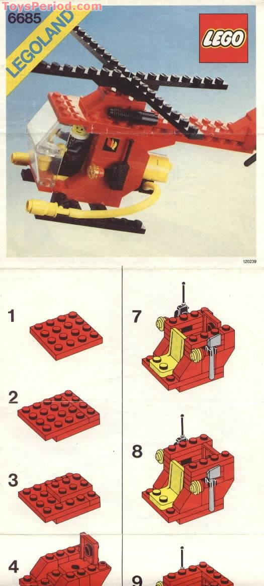 lego 6685 fire copter 1 set parts inventory and instructions lego reference guide. Black Bedroom Furniture Sets. Home Design Ideas