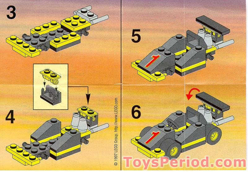 Lego 2886 Formula 1 Racing Car Set Parts Inventory And Instructions Lego Reference Guide