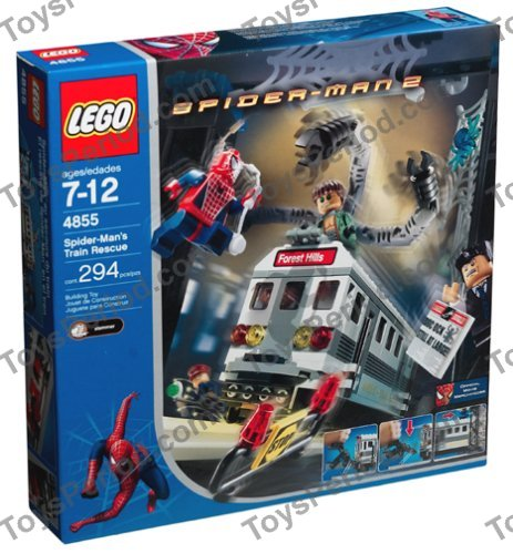 Lego 4855 Spider Mans Train Rescue Set Parts Inventory And
