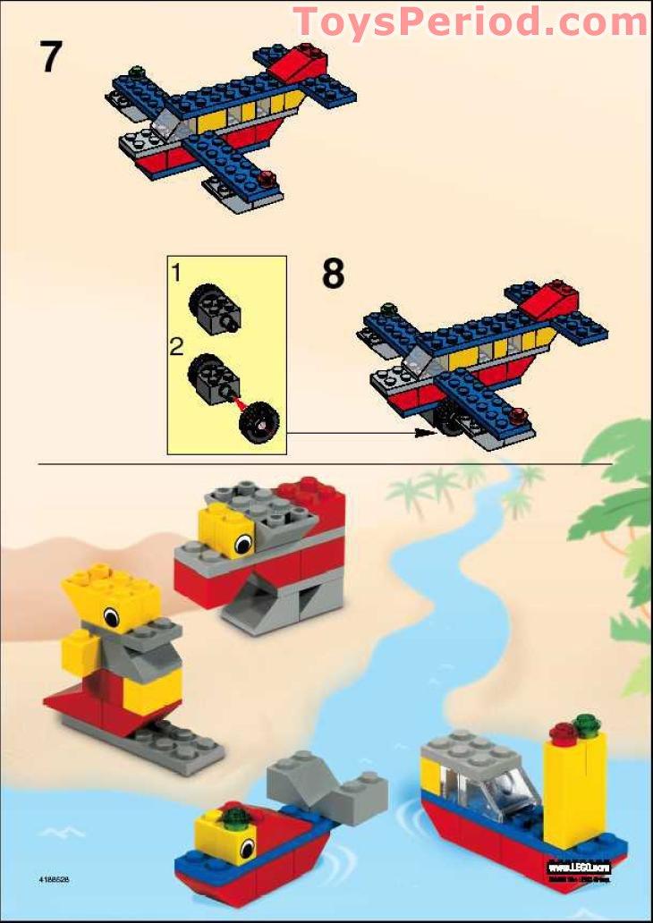 Lego 4038 Airplane Set Parts Inventory And Instructions Lego