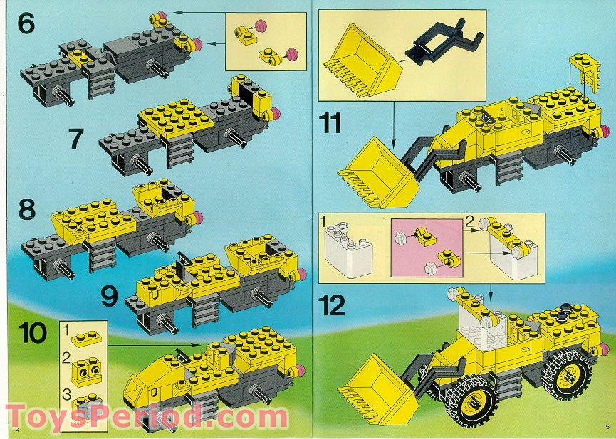 lego construction set instructions