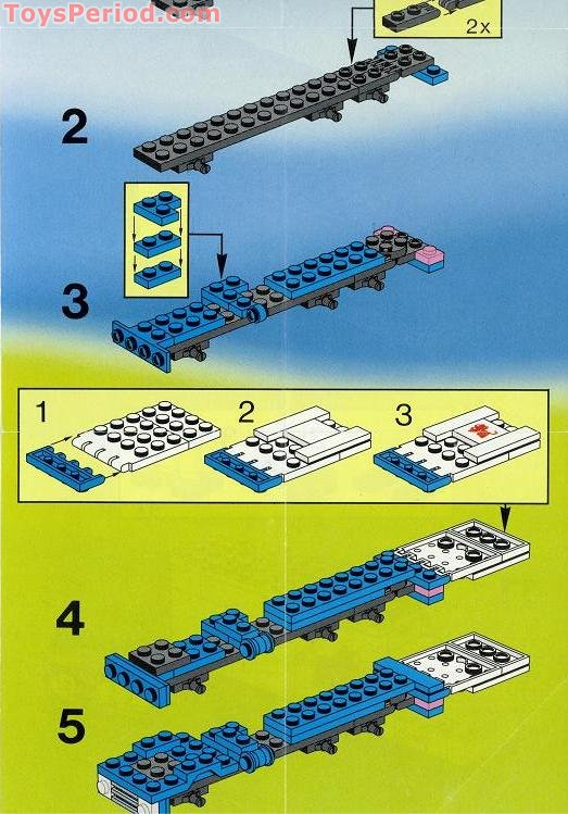 lego delivery truck instructions