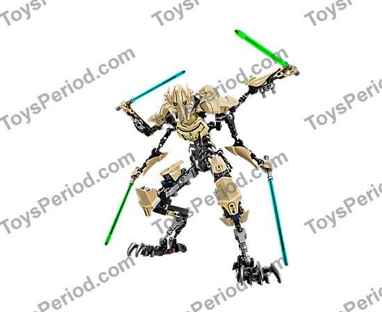 lego general grievous buildable figure instructions