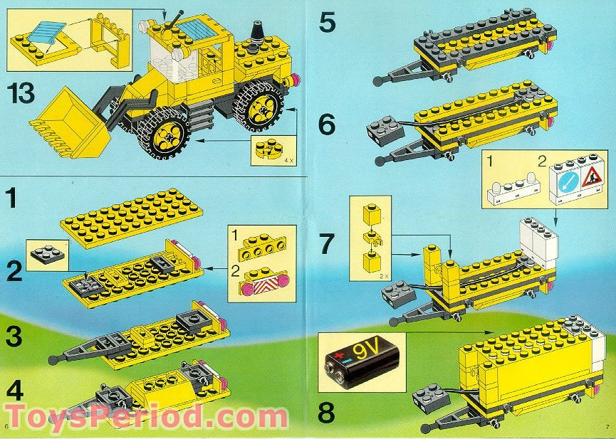 lego 6481 light and sound construction crew set parts. Black Bedroom Furniture Sets. Home Design Ideas