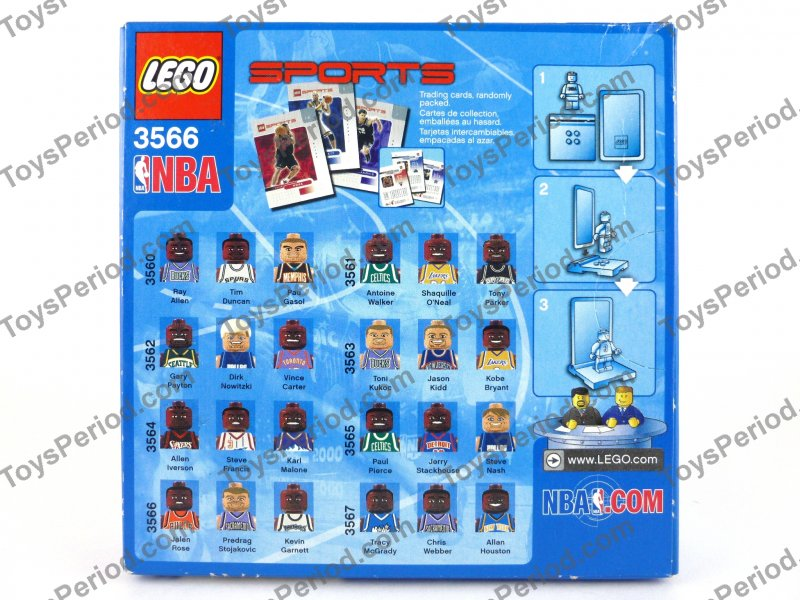 LEGO 3566 NBA Collectors Basketball Minifigure Set No. 7 ...