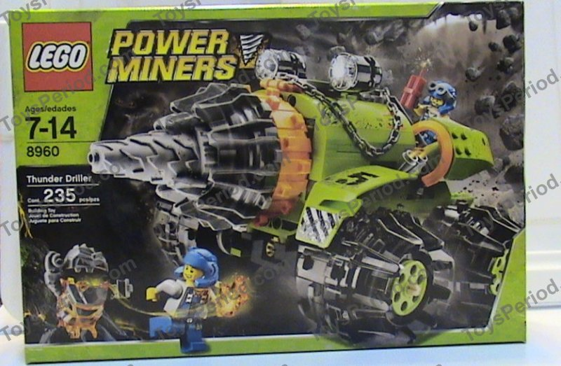 Lego 8960 Thunder Driller Set Parts Inventory And Instructions