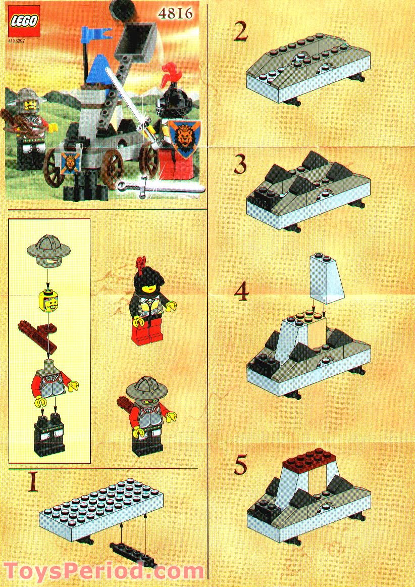 Lego 4816 Knights Catapult Set Parts Inventory And Instructions