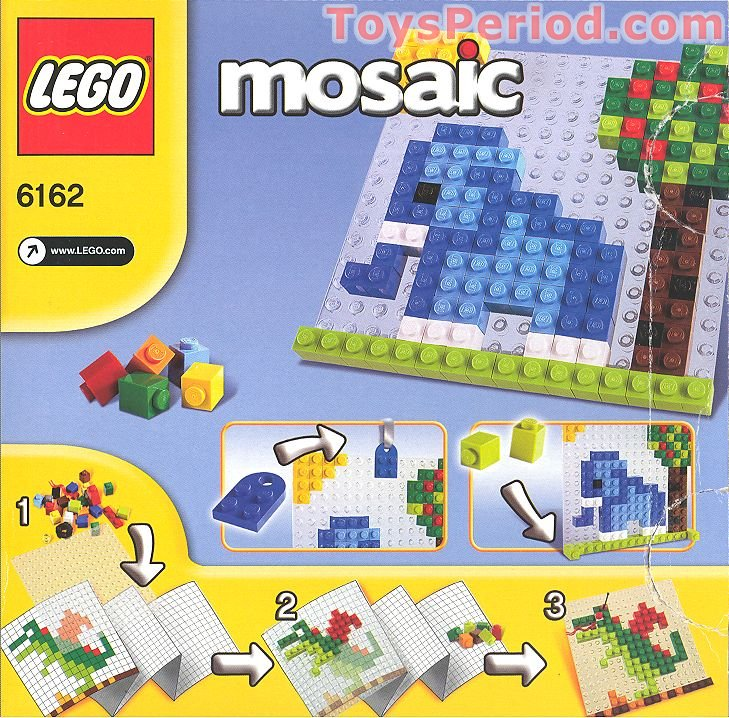 LEGO 6162 A World of LEGO Mosaic 4 in 1 Set Parts Inventory and