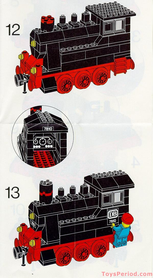 Lego 7810 Push Along Steam Engine Set Parts Inventory And