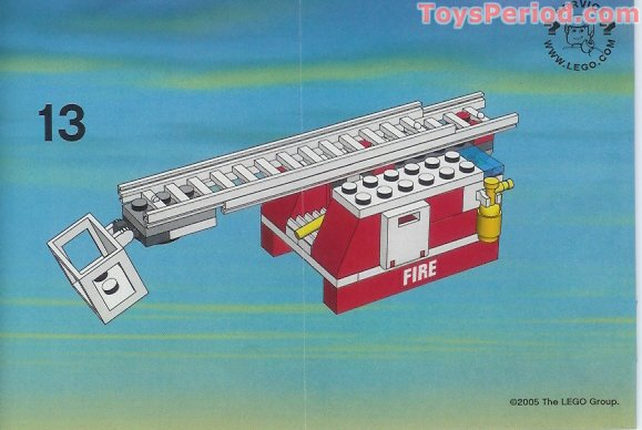 Lego 7239 Fire Truck Set Parts Inventory And Instructions Lego