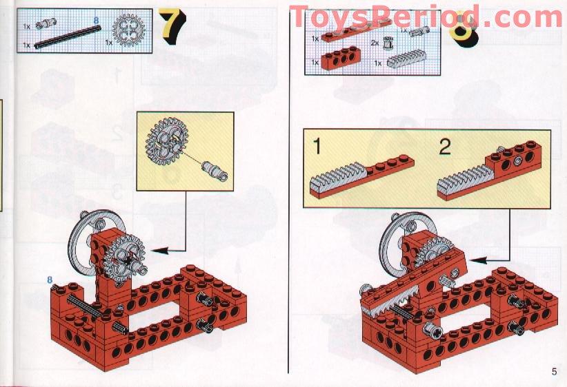 LEGO TECHNIC OldGray Technic Beam 4 x 0.5 Liftarm ref 2825