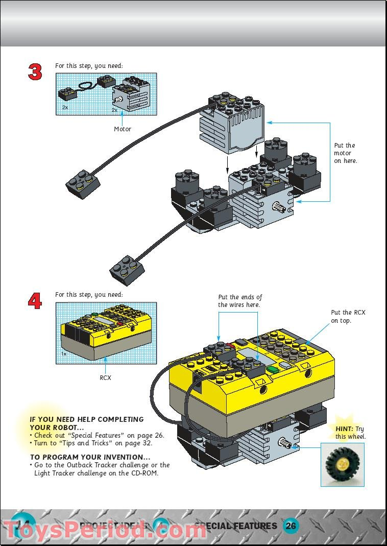 lego mindstorm building instructions pdf