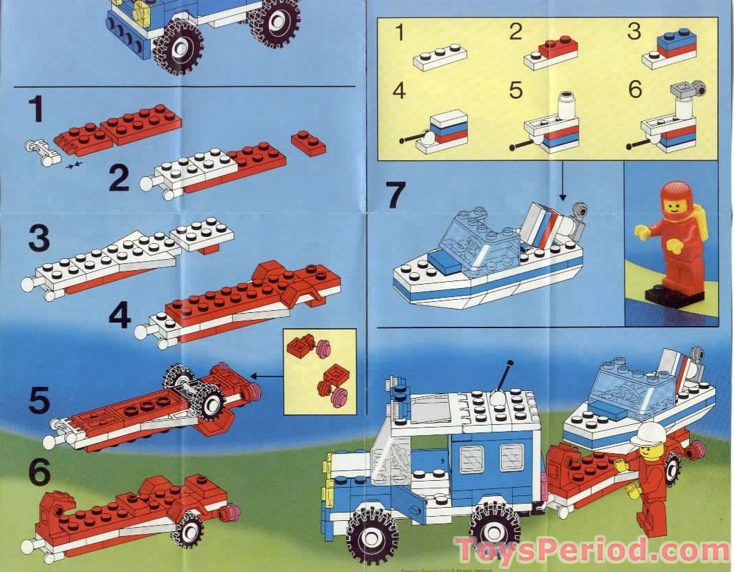 Lego 6698 Rv With Speedboat Set Parts Inventory And