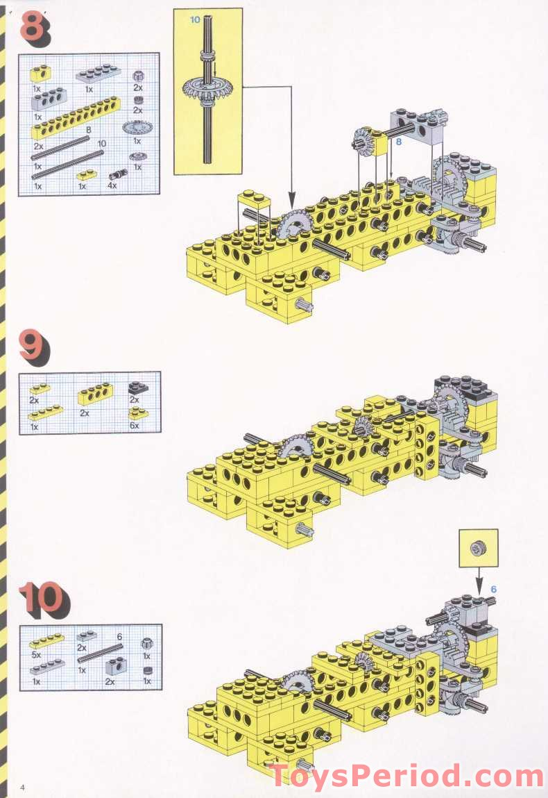 LEGO 8853 Excavator Set Parts Inventory and Instructions ...