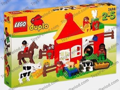 lego duplo fence farm house castle rare