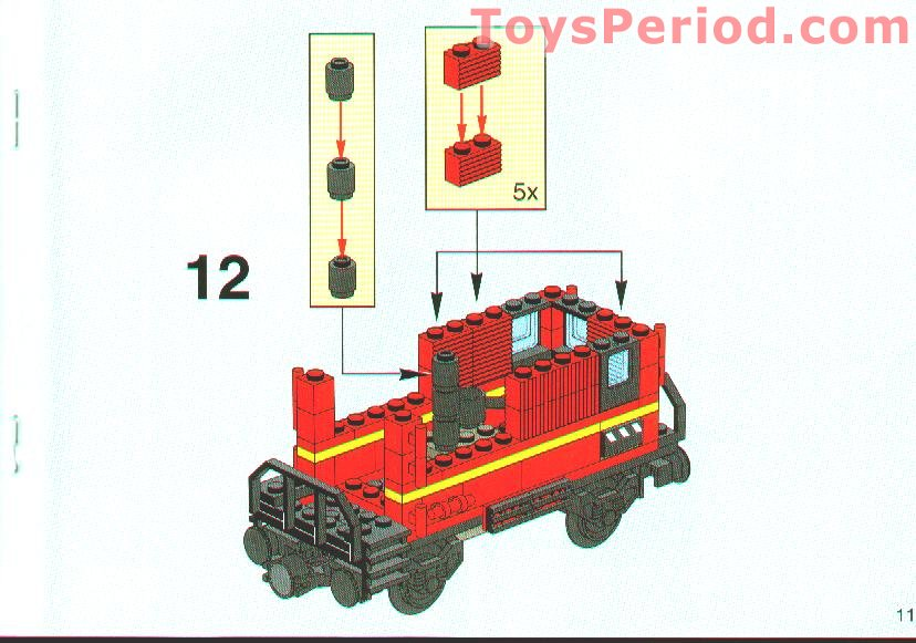 Lego 10014 Caboose Set Parts Inventory And Instructions Lego
