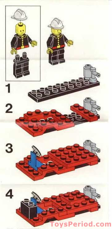 lego  fire truck set parts inventory  instructions