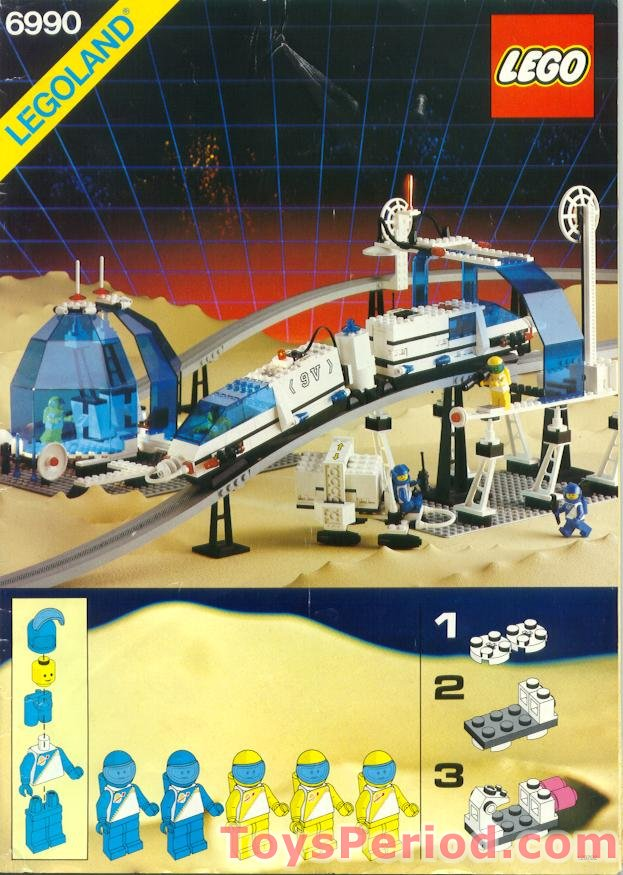 Lego 6990 Monorail Transport System Set Parts Inventory