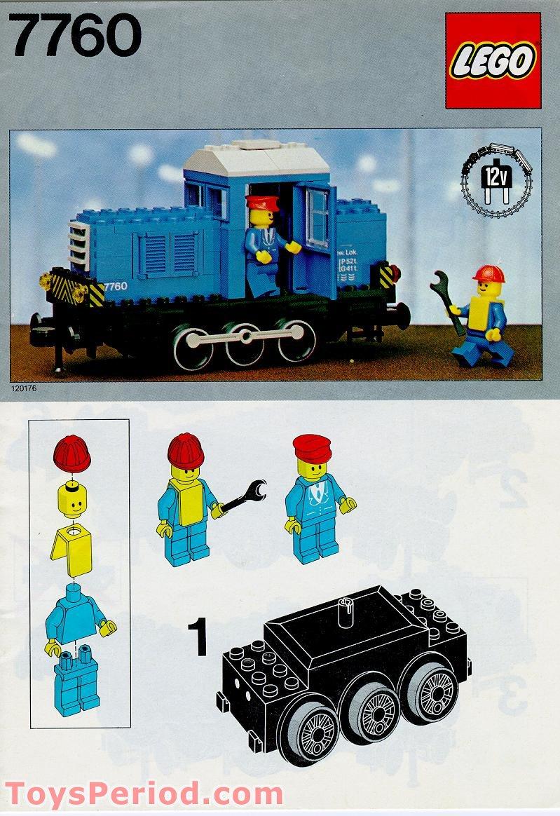 Lego 7760 Diesel Shunter Locomotive 12v Set Parts