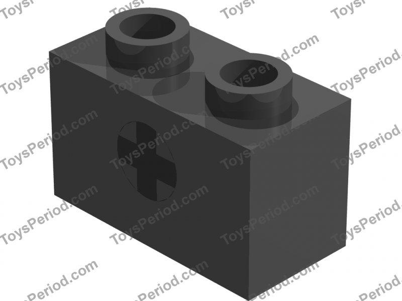 Brick 1 x 2 with Axle Hole Part 32064 LEGO-X 4 white Technic