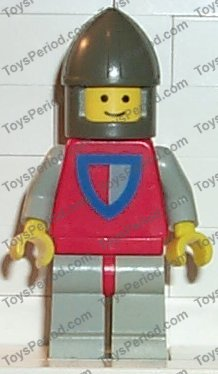 LEGO @@ Minifig cas075 @@ Classic 677 6077 Knight Shield Red//Gray