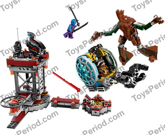 Metallic Silver Technic Ball Joint Guardians of the Galaxy LEGO Orb