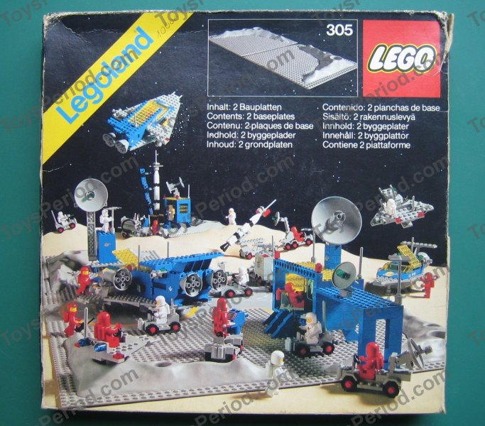 Lego 305 1 Two Crater Plates Set Parts Inventory And
