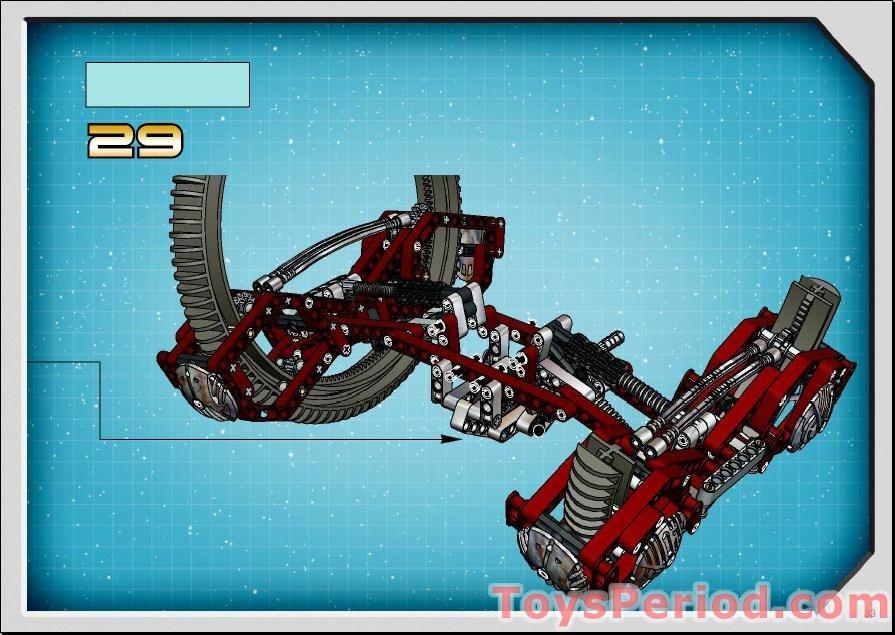 Lego 4481 Technic Hailfire Droid Set Parts Inventory And