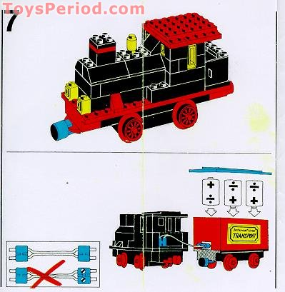 Lego 181 Complete Train Set With Motor Signals And Shunting Switch