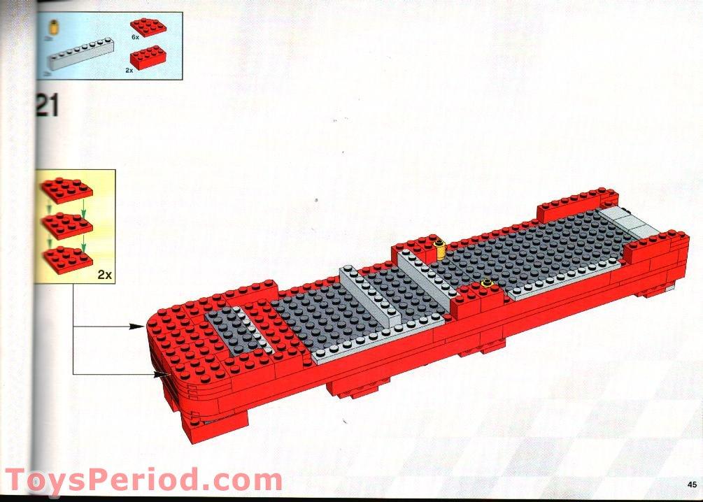 Lego 8654 Scuderia Ferrari Truck Set Parts Inventory And
