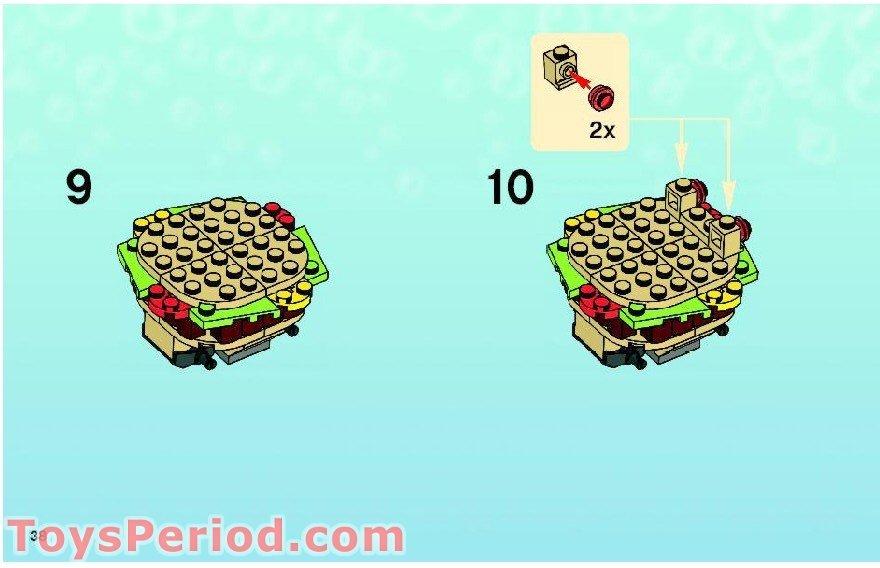 how to build lego spongebob