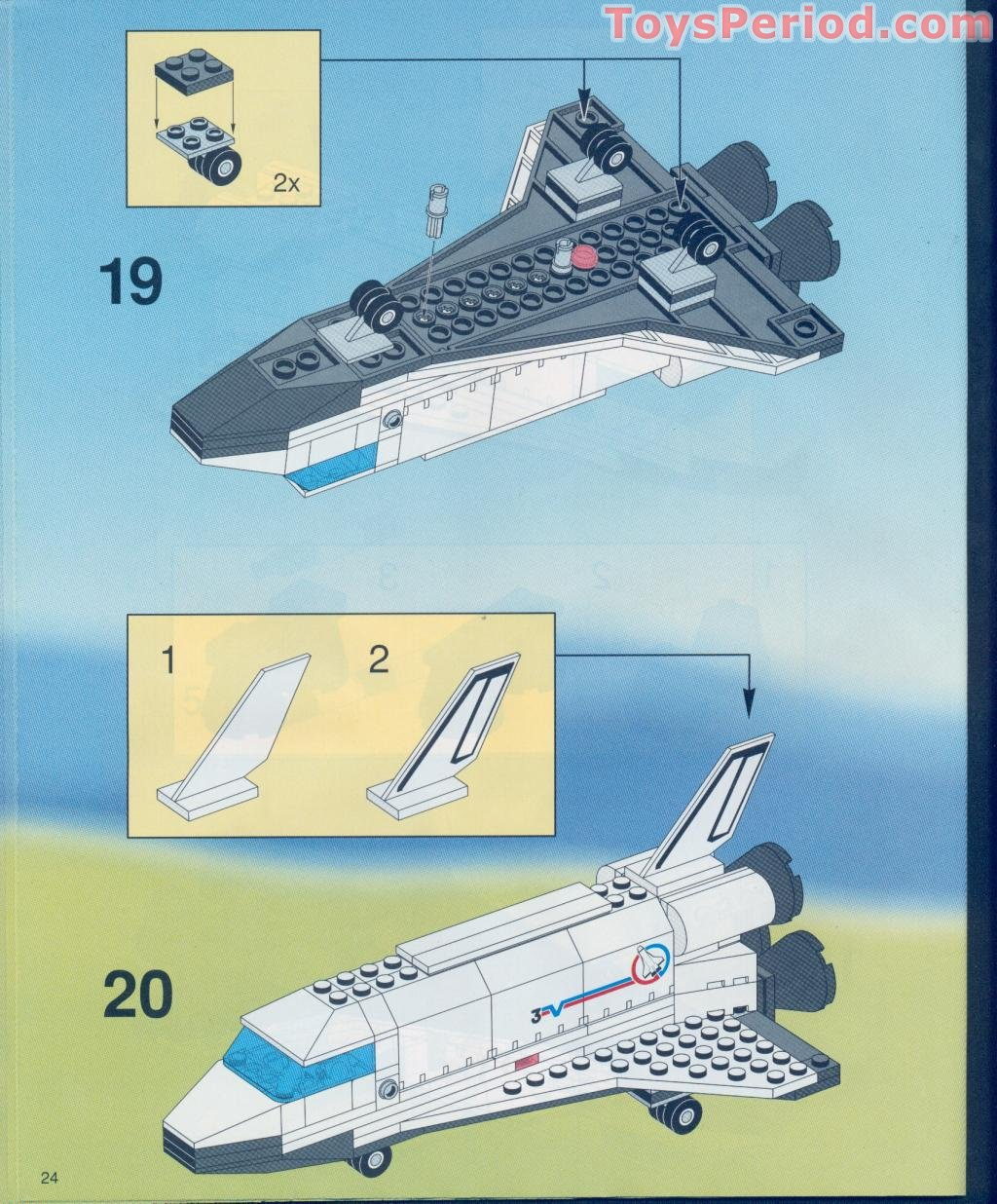 LEGO Lot of 4 Black Small Airplane Shuttle Tails