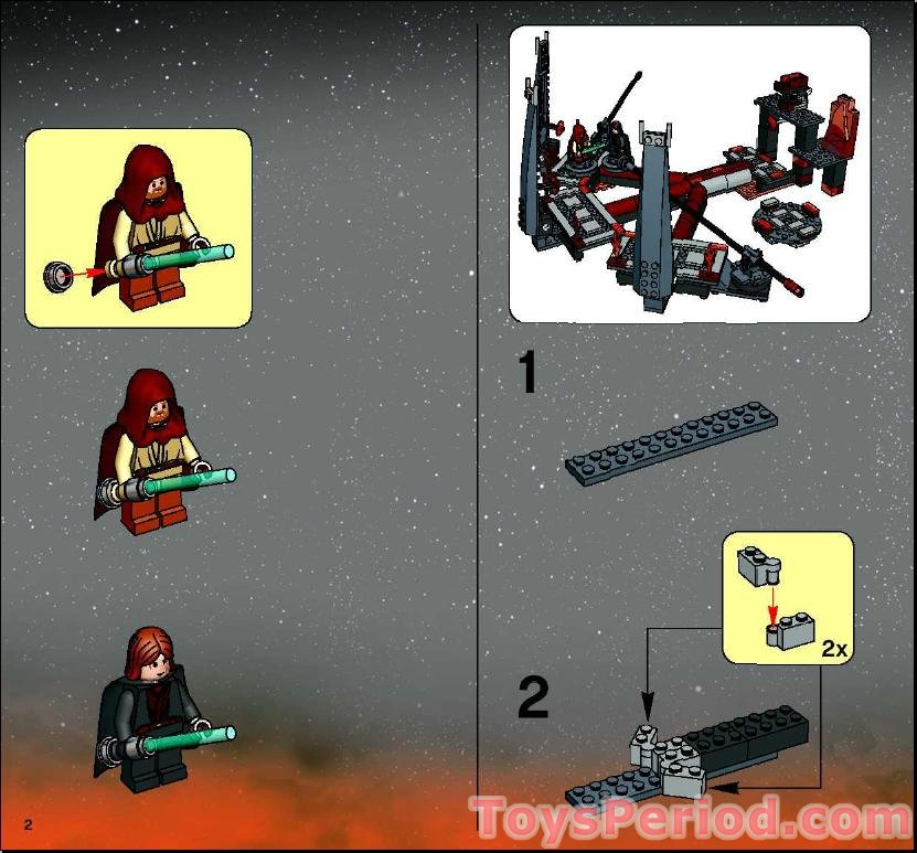 Lego 7257 Ultimate Lightsaber Duel Set Parts Inventory And